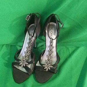 Icora sz 8 black embellished heels